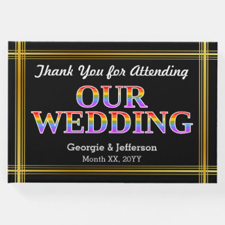 """Thank You for Attending Our Wedding"" Guest Book"