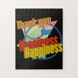 Thank you for Happiness Jigsaw Puzzle