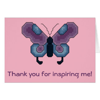 Thank you for inspiring me! Butterfly Notecard Card