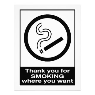 Thank You For Smoking 21.5 Cm X 28 Cm Flyer