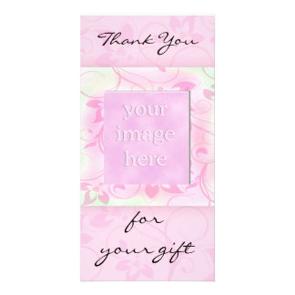 Thank you for the gift -pink photocard custom photo card