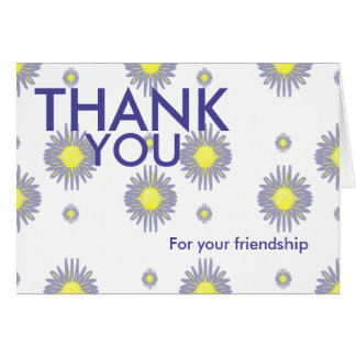 Thank you for your friendship and support card