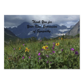 Thank You for Your Sympathy, Mountain Wildflowers Card