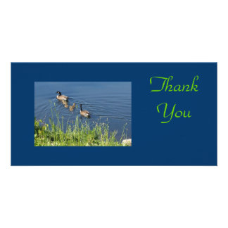 Thank You Geese Family Photo Card Template