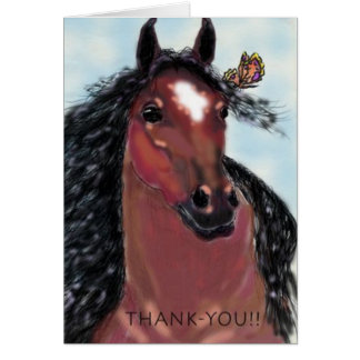 Thank-You Gelding and Butterfly Card