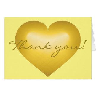 Thank you! Gold Fade Heart - blank inside Card