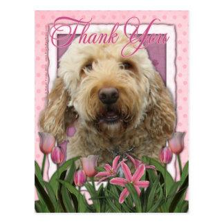 Thank You - Goldendoodle Postcard