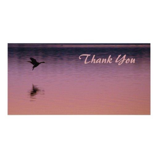 Thank You Goose @ Sunset Custom Photo Card