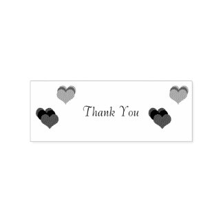 Thank You Hearts Rubber Stamp