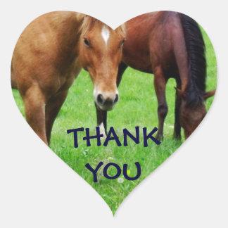THANK YOU HORSES HEART STICKER