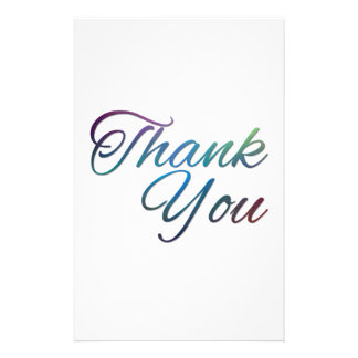 Thank You Images Stationery