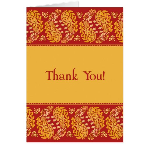 Thank You Indian Wedding Folded Card