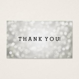 Thank You Insert Silver Glitter Lights