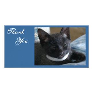 Thank You- Kitty Photocards Custom Photo Card