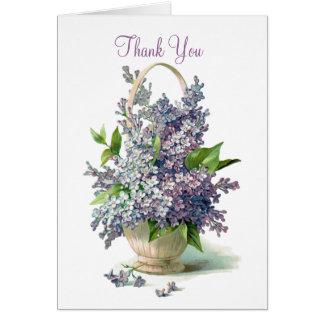 Thank you: Lilac Basket Greeting Card