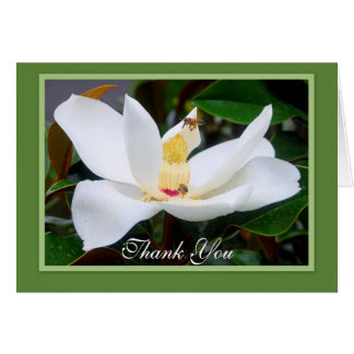 Thank You Magnolia and Honeybees Green Frame Card
