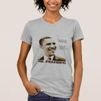 """Thank You! Mr. President"" with POTUS Obama T-Shirt"