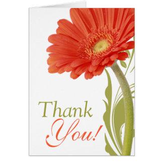 Thank You | Orange Gerbera Daisy Greeting Card