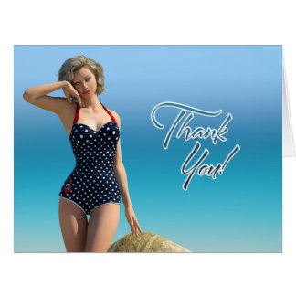 Thank You Pin Up Norma Card