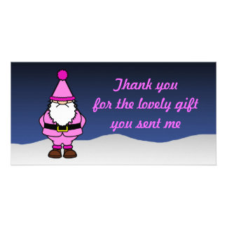 Thank you Pink Custom Photo Card
