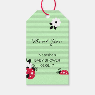 Thank You Red Ladybug Green Mint Lime Baby Shower