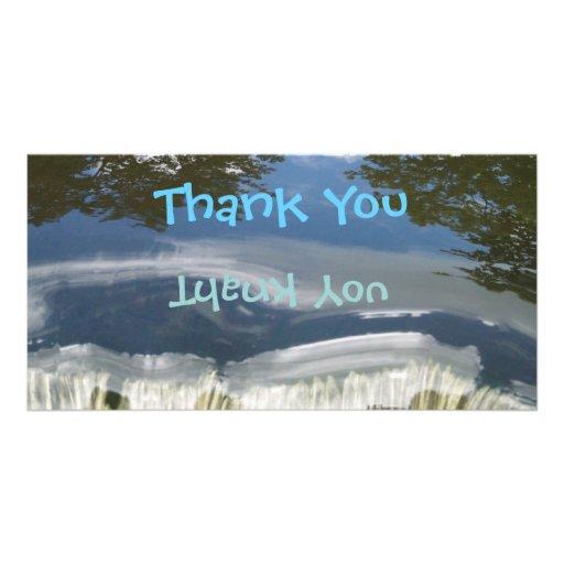 Thank You Reflection Photocard Photo Greeting Card