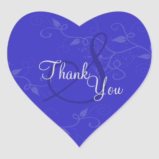 Thank You Seal - Royal Blue Monogram Wedding