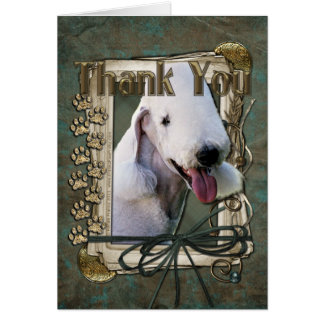 Thank You - Stone Paws - Bedlington Terrier Card