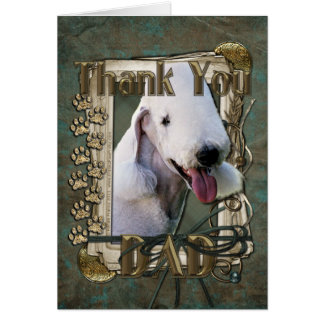 Thank You - Stone Paws - Bedlington Terrier - Dad Card