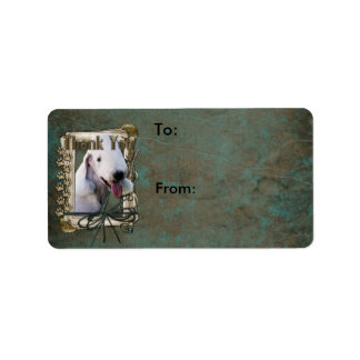 Thank You - Stone Paws - Bedlington Terrier Label