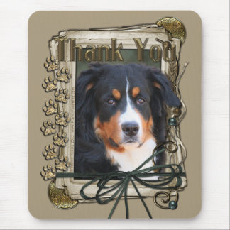 Thank You - Stone Paws - Bernese Mountain Dog Mouse Pad