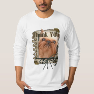 Thank You - Stone Paws - Brussels Griffon T-Shirt