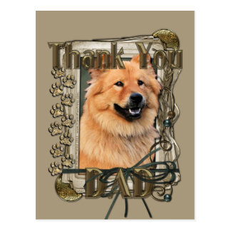 Thank You - Stone Paws - Chow Chow - Cinny Postcard