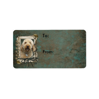 Thank You - Stone Paws - GoldenDoodle Address Label