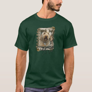 Thank You - Stone Paws - GoldenDoodle T-Shirt