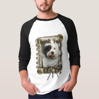 Thank You - Stone Paws - Tibetan Terrier - Dad T-Shirt