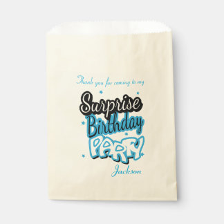 Thank You Surprise Birthday Party | Blue Favour Bags