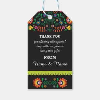 Thank you Tags Fiesta Mexican Print Wedding