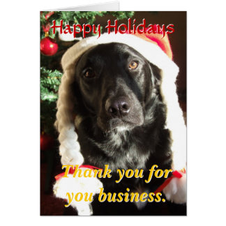Thank you valued Customers Holiday Card