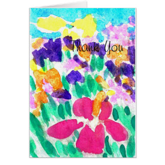 Thank You Watercolor Design Greeting Card