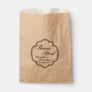 Thank You Wedding Favor Candy Bar Buffet Bags Favour Bags