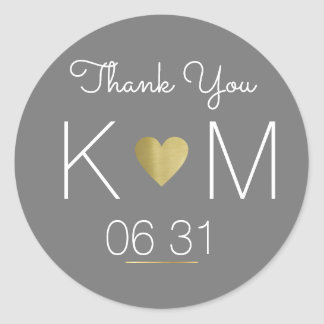 thank you . wedding favor round sticker