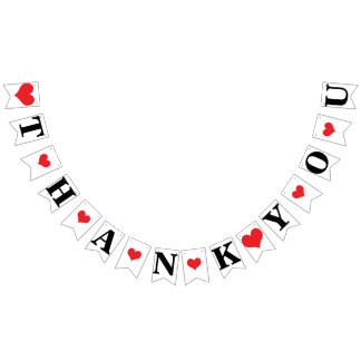 THANK YOU ❤ WEDDING SIGN DECOR BUNTING