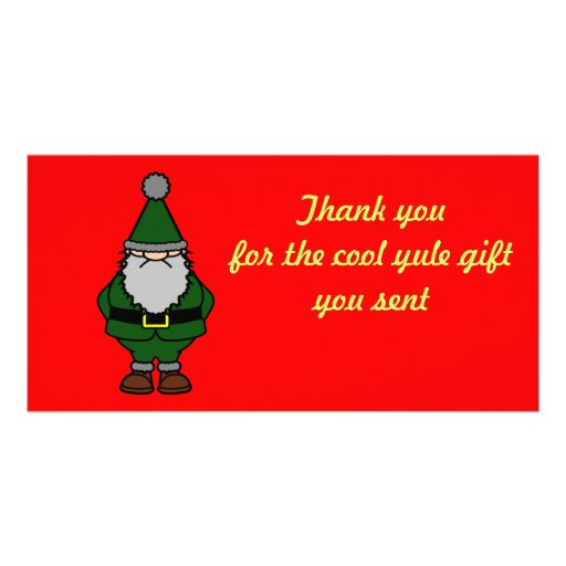 Thank you Yule Photo Card Template