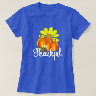 Thankful Autumn Fall Pumpkins Graphic T-Shirt
