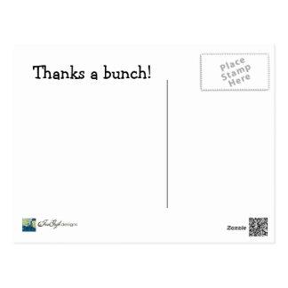 Thanks a Bunch--Thank You Postcard
