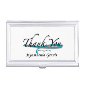 Thanks You For Supporting Myasthenia Gravis Business Card Case