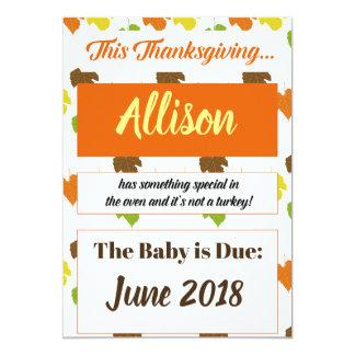 Thanksgiving 2017 Turkey Pregnancy Announcement