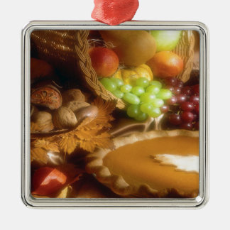 Thanksgiving Autumn Feast Dinner Print Christmas Ornament