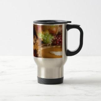 Thanksgiving Autumn Feast Dinner Print Stainless Steel Travel Mug